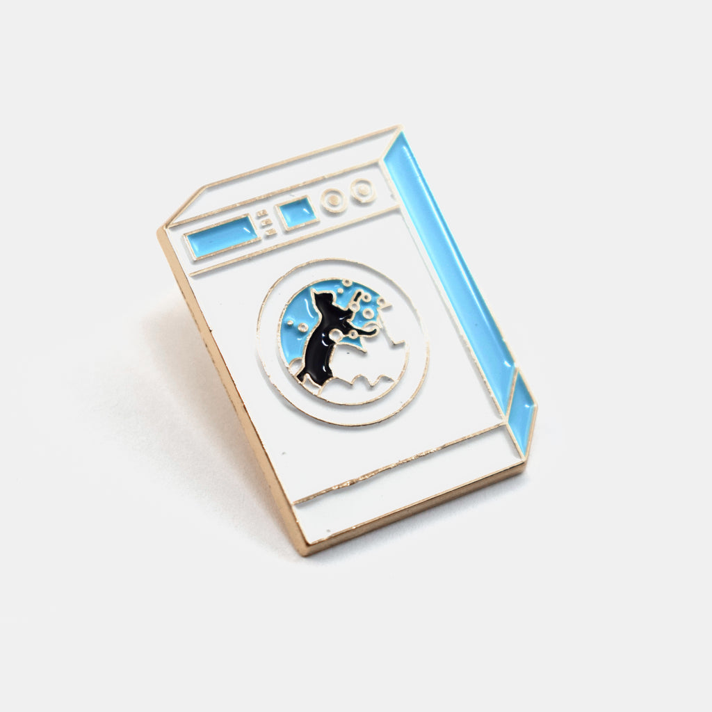 Cat Washing Machine Pin