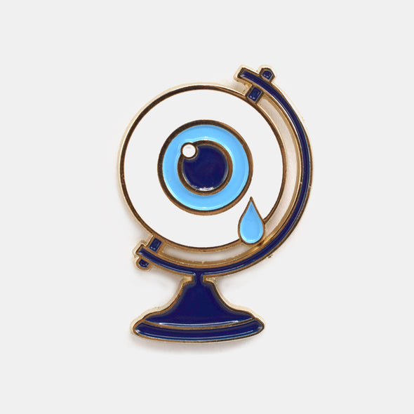 Eyeball Globe Pin