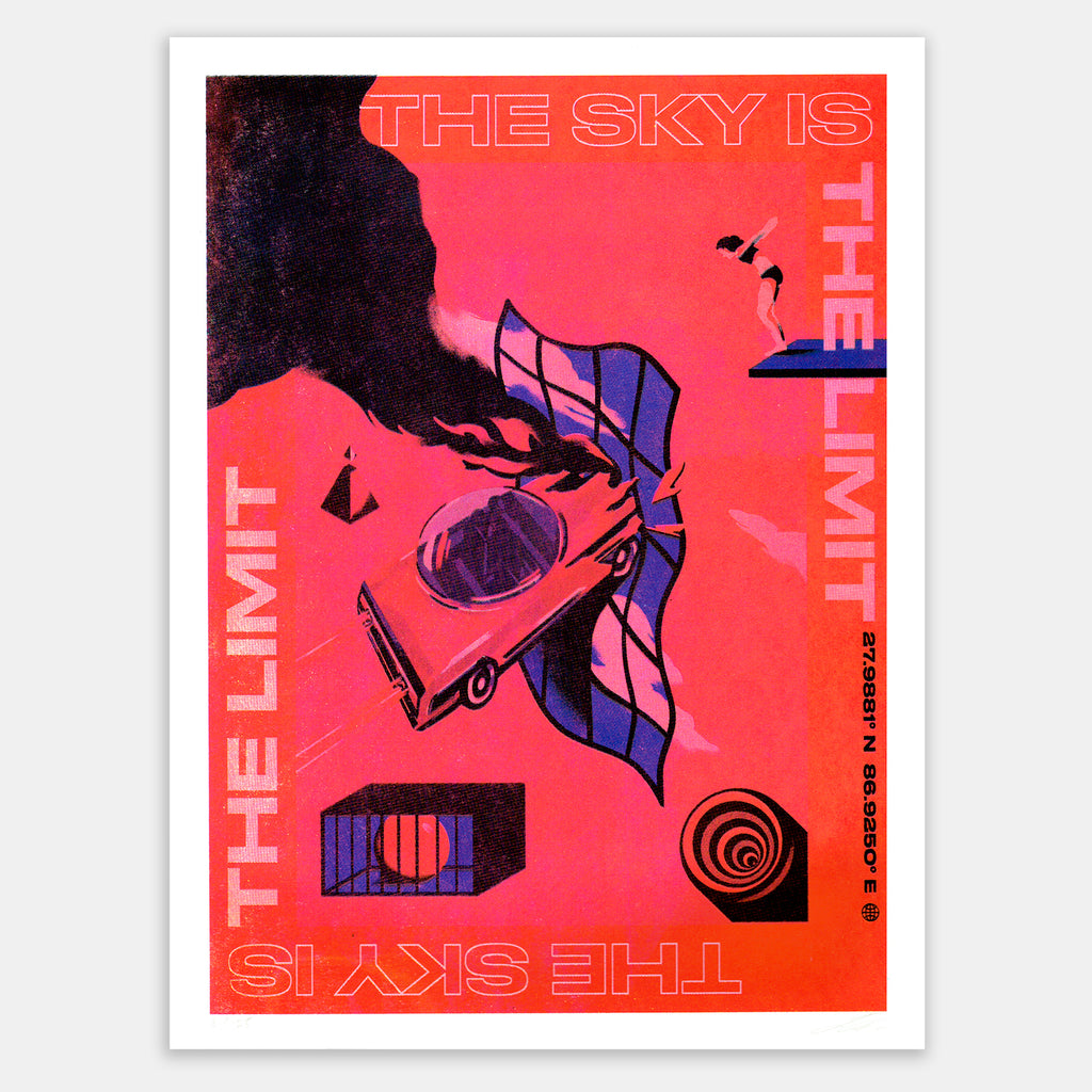 The sky is the limit Screen-Print Poster