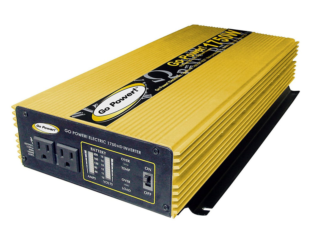 Go Power 1750 Watt Heavy Duty Modified Sine Wave Inverter