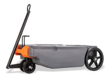 Rhino Tote Tank with Steerable Wheels, 28 Gallon