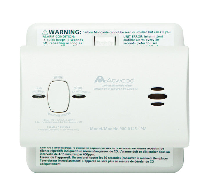 9V Atwood CO Alarm-Non Digital