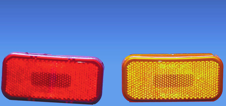 Rectangle Clearance Light - Red