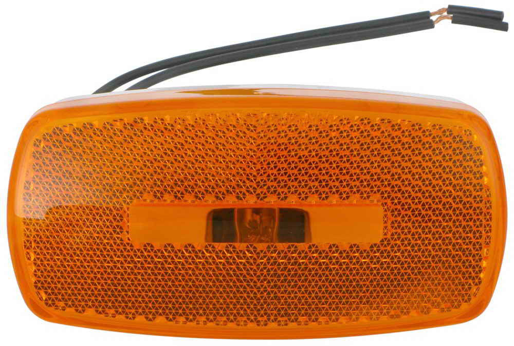 Side Marker Lights w/Oval Lens - Amber Lens