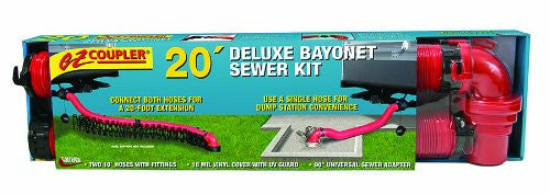 EZ Coupler 20' Deluxe Bayonet Sewer Hose Kit