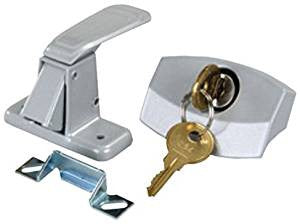 Silver Camper Door Latch