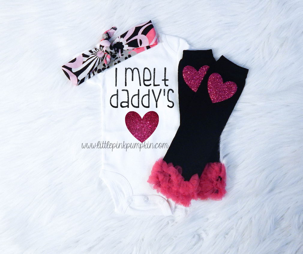 I Melt Daddy's Heart (Black & Pink)