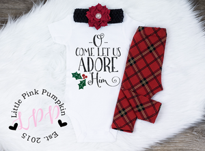 O Come Let Us Adore Him Christmas Outfit