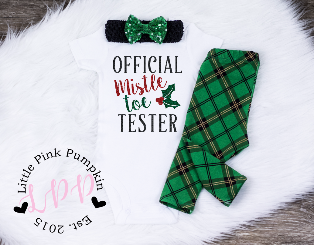 Official Mistletoe Tester (Green and Black)