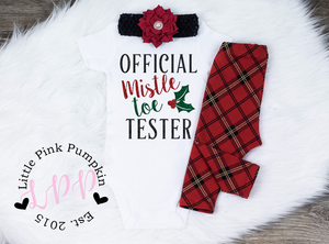 Official Mistletoe Tester Christmas Outfit