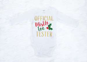 Official Mistletoe Tester (Red & Gold Design)