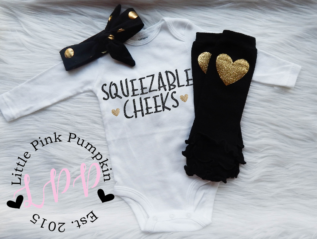 Squeezable Cheeks (Black & Gold)