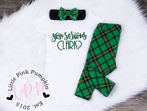 f7134c9e5 Baby Girl Christmas Outfit | You Serious Clark | Christmas Vacation ...