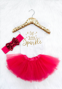Eat Sleep Sparkle (Pink Tutu)