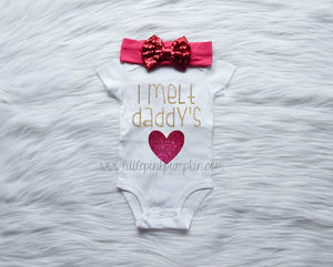I Melt Daddy's Heart Outfit (Hot Pink)