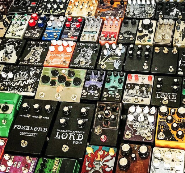 Guitar pedal collection