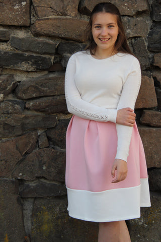 Pink Pastel Pleated Skirt