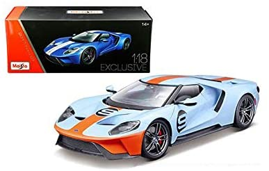 Ford GT 2017 Héritage Model 1:18 Maisto Exclusive Edition  - Light Blue No. 9