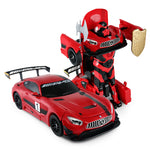 Mercedes AMG GT3 Transform Robot Car - 1:14 R/C Car -Red