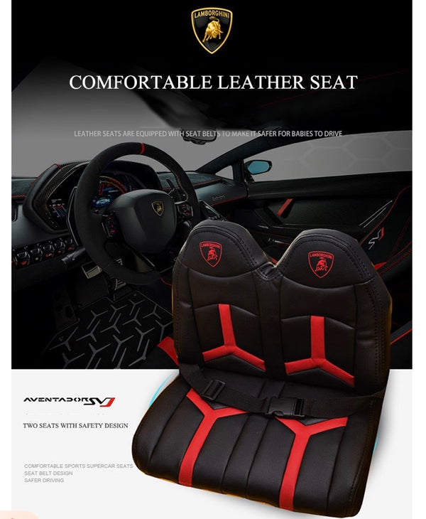 lamborghini ride on car seats