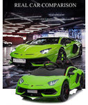 NEW 2020 - Lamborghini SVJ - 12V Electric Powered Ride on Car w. Remote Control - Green