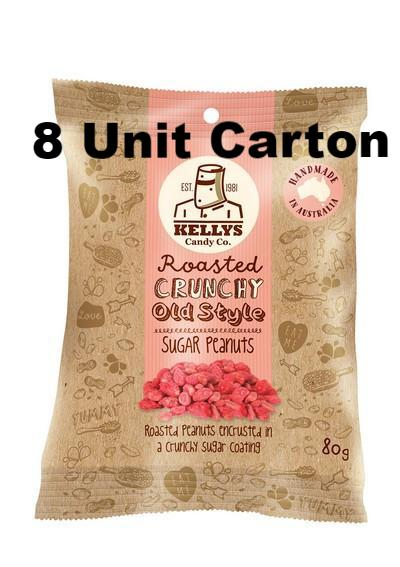 Sugar Peanuts - Snack Pack 80g (8) Outer - Kellys Candy Co.