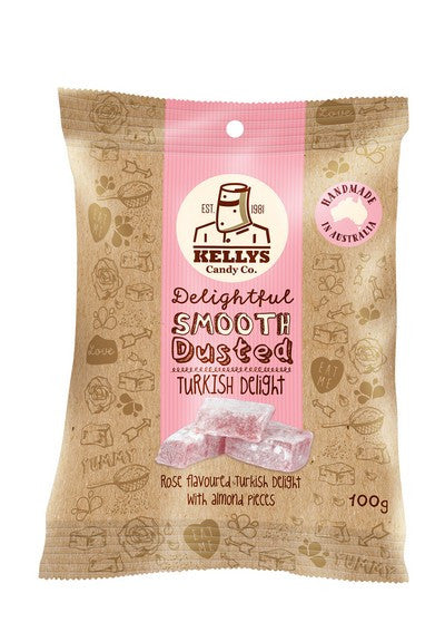 Turkish Delight - Snack Pack 100g (1) Individual - Kellys Candy Co.
