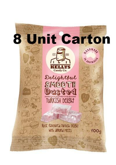 Turkish Delight - Snack Pack 100g (8) Outer - Kellys Candy Co.