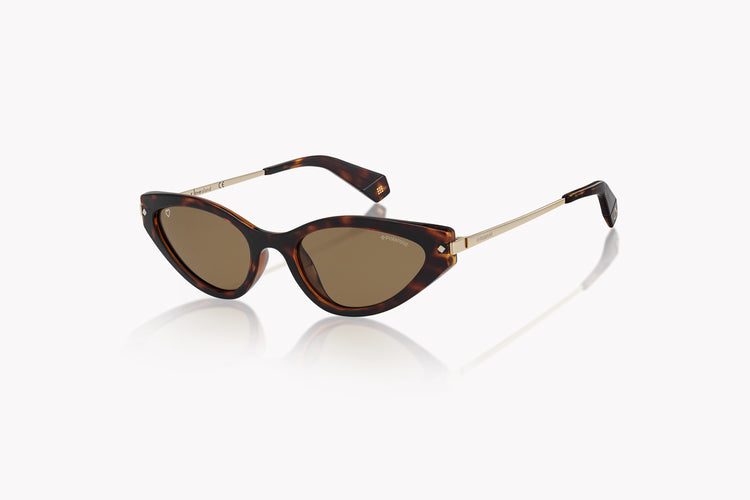 Polaroid Sleek Cat-Eye - Havana