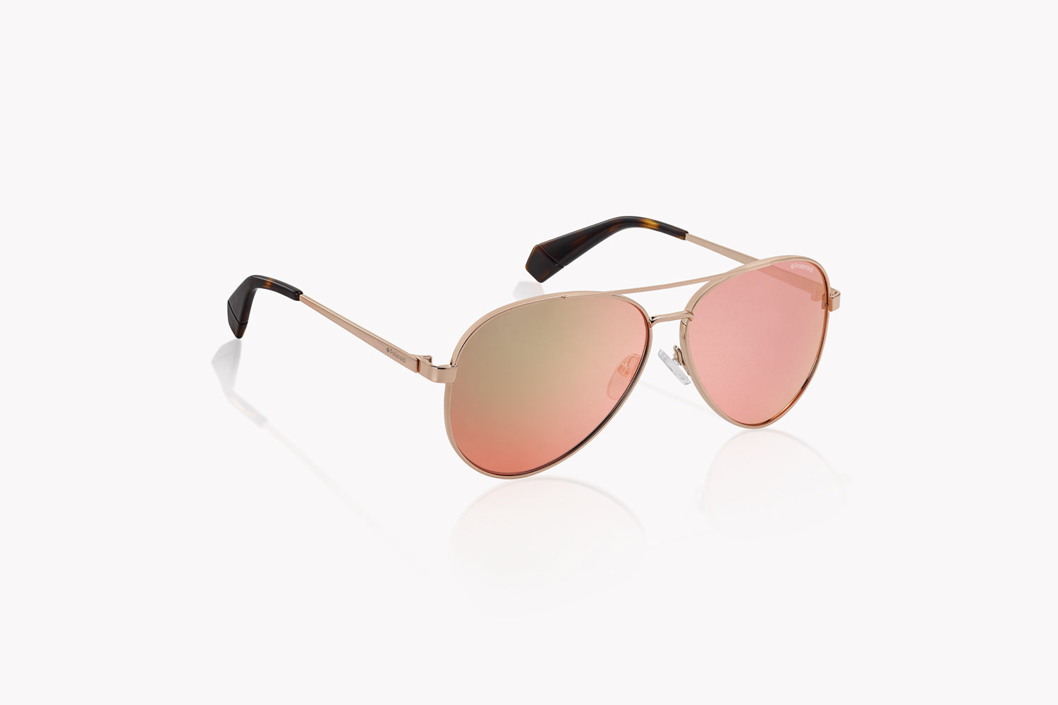 Polaroid Mirrored Aviator - Rose Gold