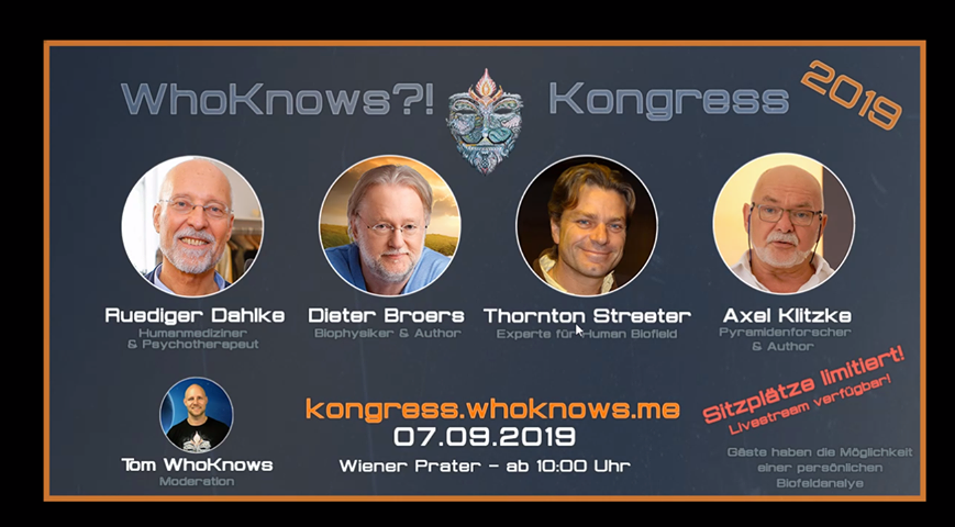 WHOKNOWS?! KONGRESS 2019 AM 07.09.2019