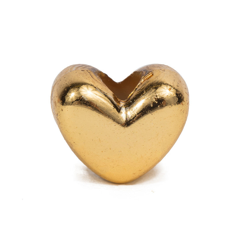 Small Gold Heart Bead - 100 Bead Pack