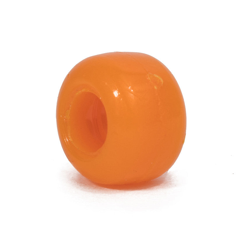 Orange Pony Bead - 100 Bead Pack