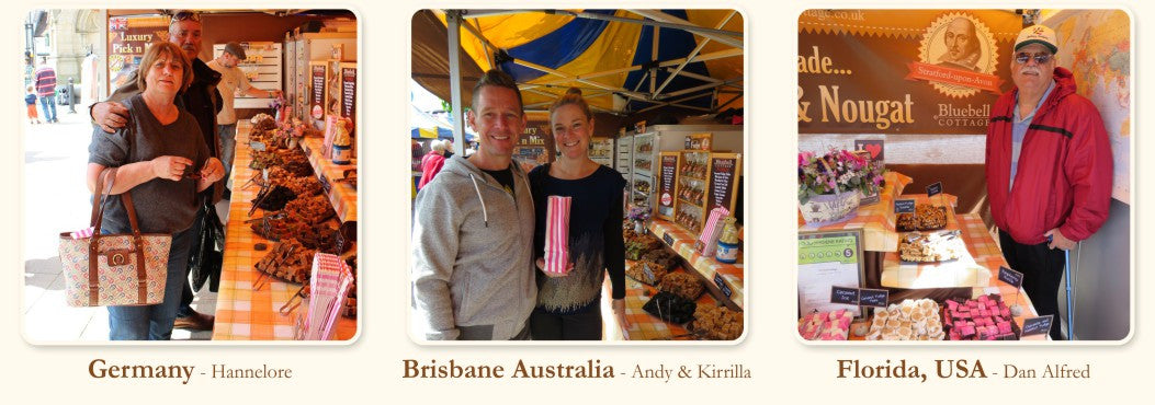 Bluebell Cottage customers from Germany Australia & USA