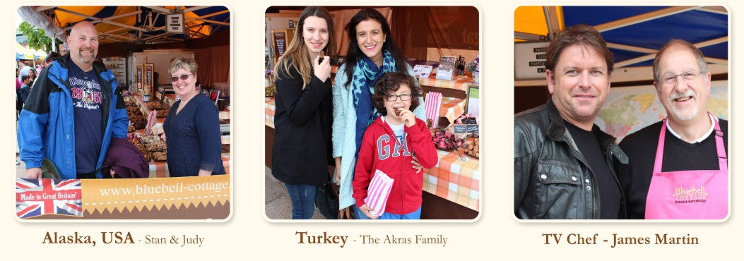 Customers from Alaska, Turkey visiting Bluebell Cottage