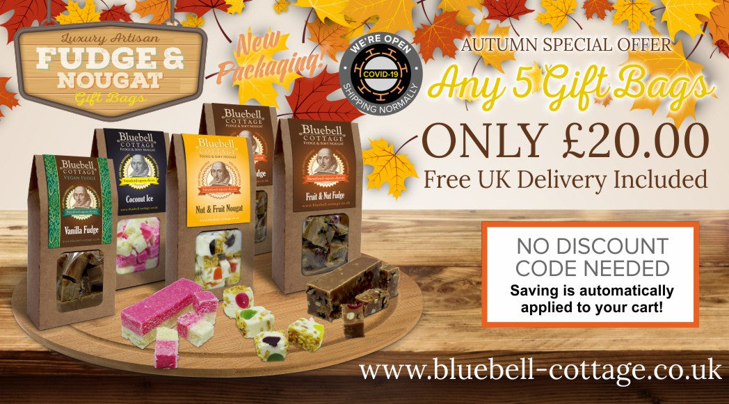 October special offer at Bluebell Cottage Fudge