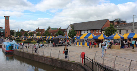Stratford upon Avon's world famous Upmarket is held every Sunday and Bank Holiday Monday on the Waterfront