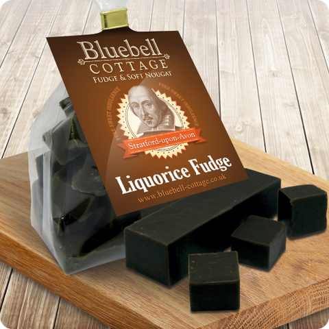 Liquorice Fudge sold in hand cut blocks by Bluebell Cottage