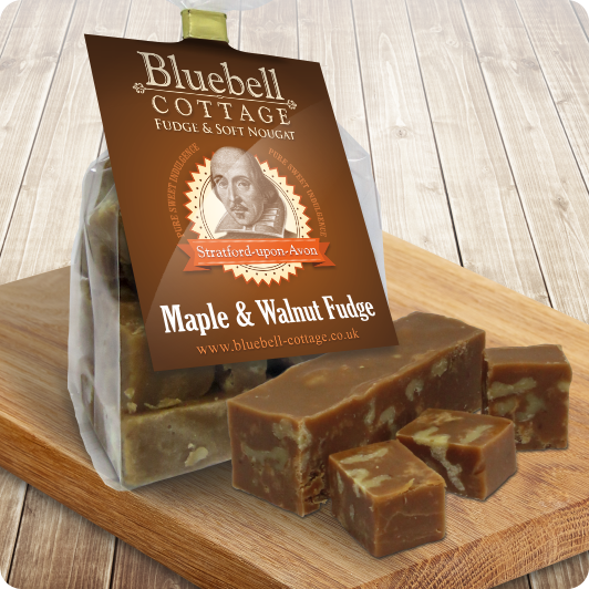 Maple & Walnut Fudge by Bluebell Cottage