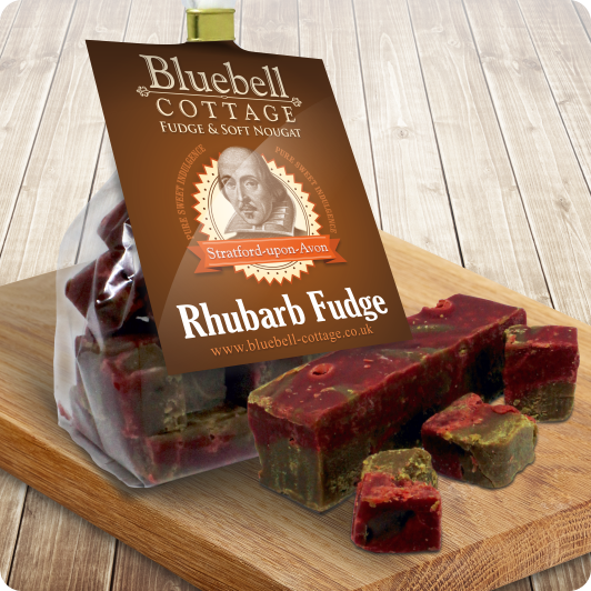 Rhubarb Fudge by Bluebell Cottage