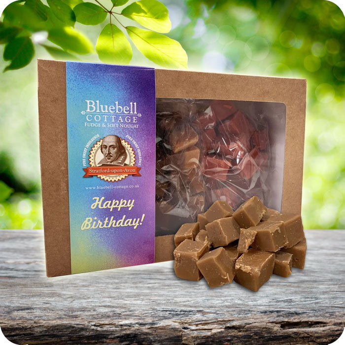 Happy Birthday 3 Fudge 1KG Gift Box - Choose your flavours - Vibrant design