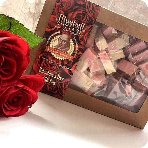 Special Edition Valentines Day 1KG Nougat Gift Box - Almond Royal, Strawberry, Cherry Brandy