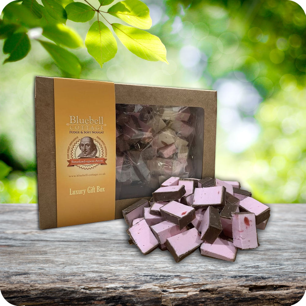 Single Nougat 1KG Gift Box by Bluebell Cottage - Choose your flavours