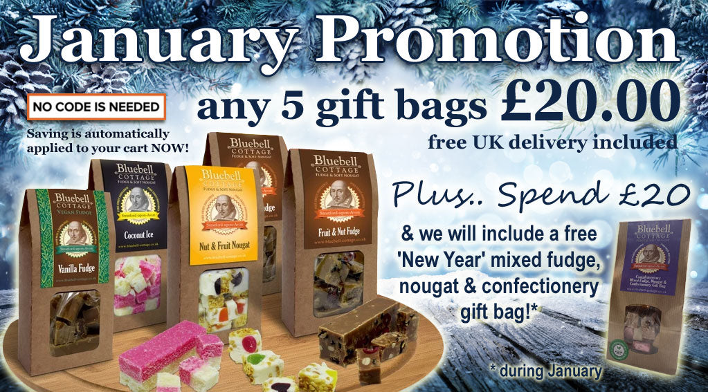 Bluebell Cottage 5 Gift Bags for only £20.00