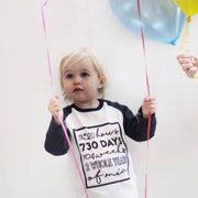 personalised birthday top  years months 1 whole years of 2 whole years of
