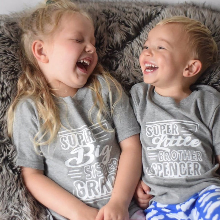 personalised big little brother sister tops