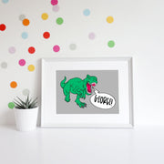 Dino Personalised Name Art Print
