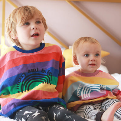Merry and Bright Rainbow Jumper