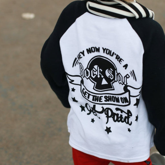 All Star / Rockstar Raglan Baseball Top