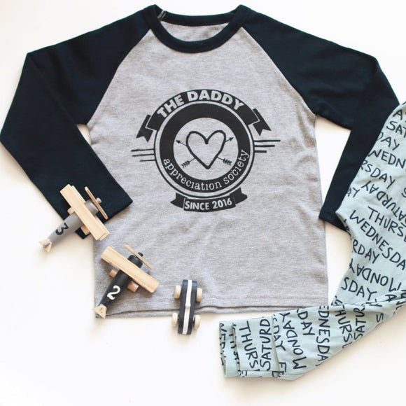 Mummy/ Daddy Appreciation Raglan Baseball Top